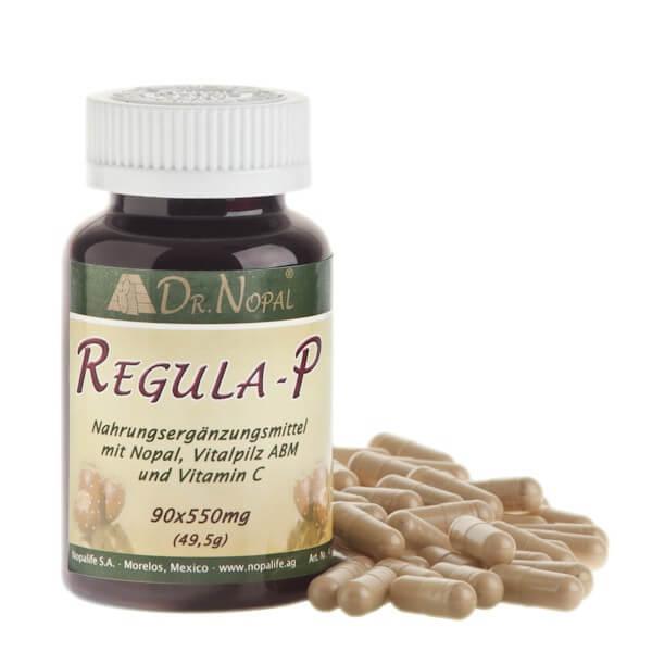 Dr. Nopal Regula-P, Kaktuspulver mit Vitalpilz ABM zur Erhaltung einer gesunden Prostata